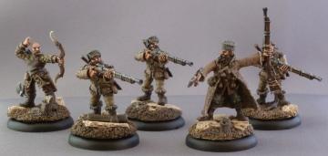 Khador Kossite Woodsmen (the second 5 models).