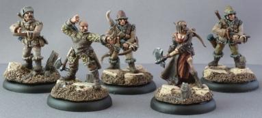 Khador Kossite Woodsmen (the first 5 models)