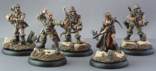 Khador Kossite Woodsmen (the first 5 models)