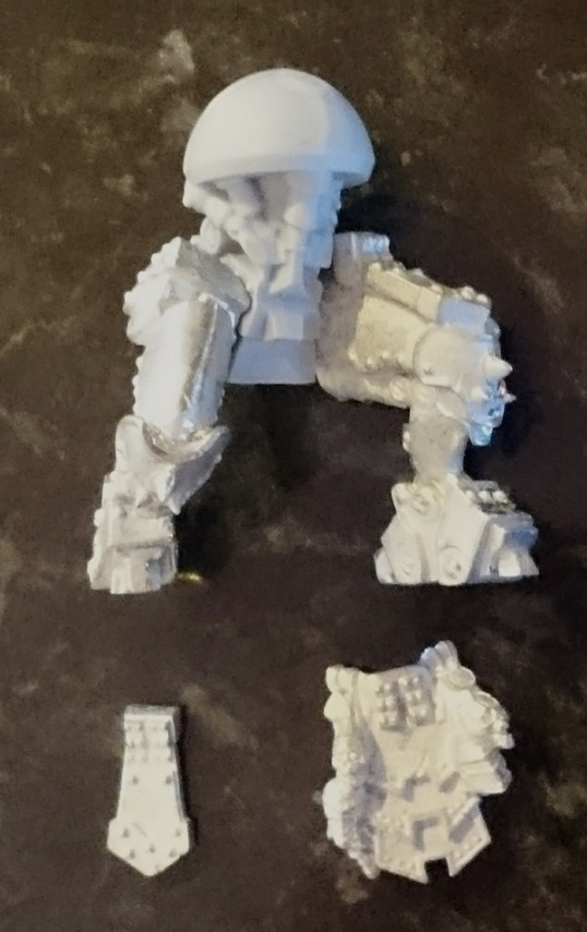A picture of Ruin's partially assembled legs.