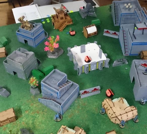 Infinity Terrain: TT Combat Objective Room | Splayed Paint Brush