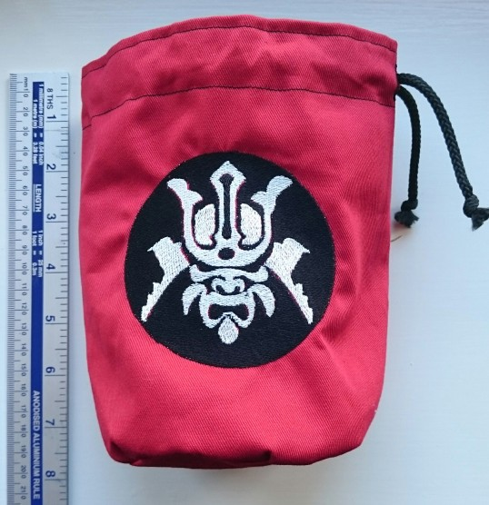 Samurai Dice Bag with ruler